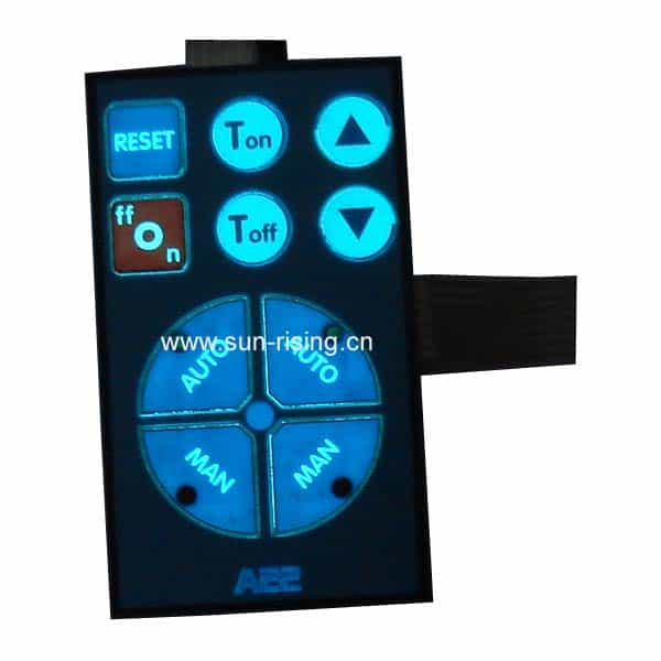 electroluminescent membrane switch