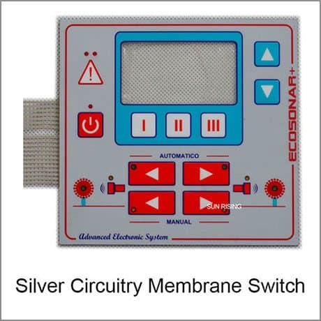 silver circuitry membrane switch